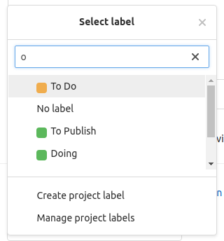 Adding labels without quick-actions