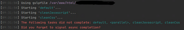 NPM del task forgets to signal async completion